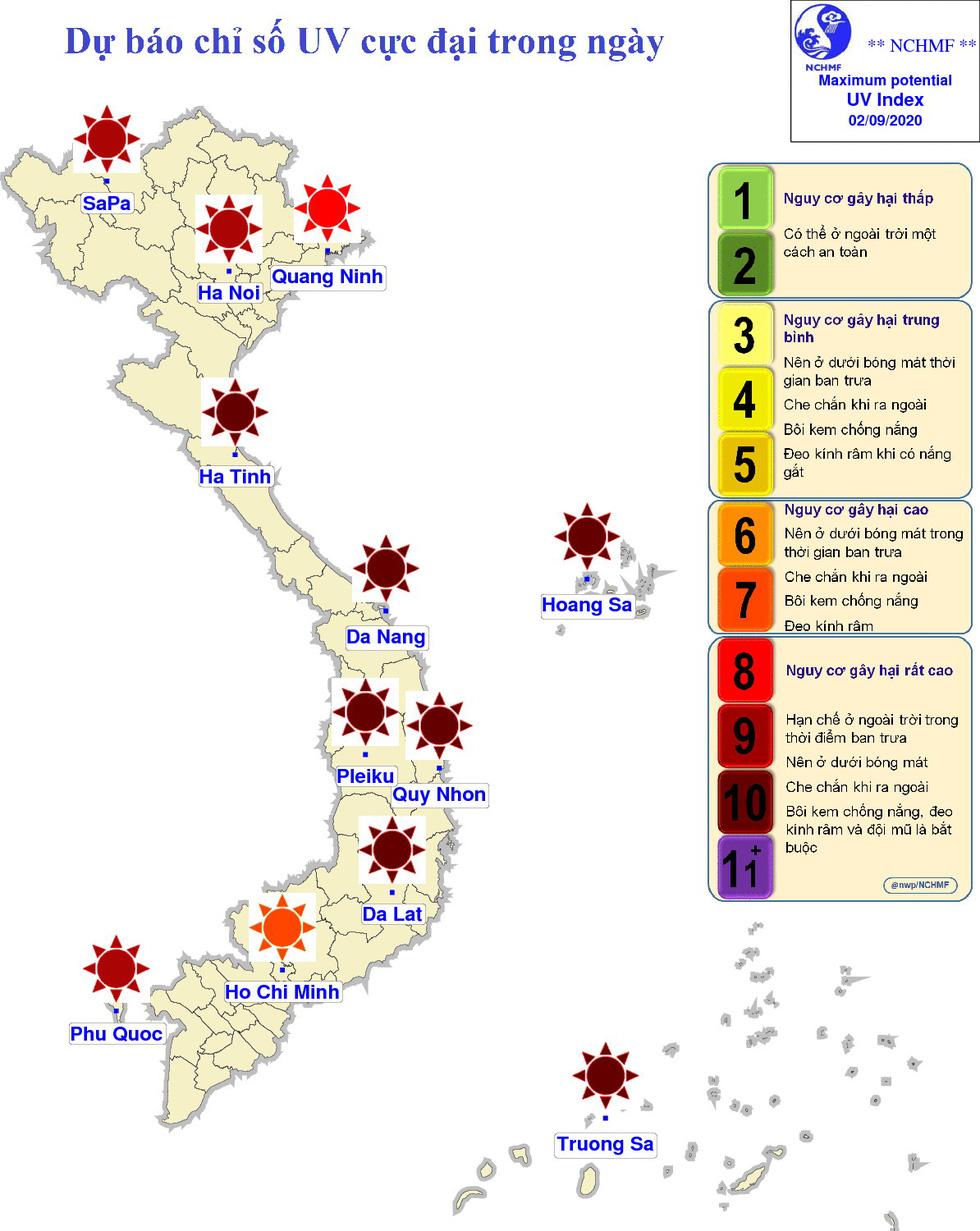 Bắc Bộ, Bắc Trung Bộ nắng nóng kéo dài đến 5-9, chỉ số tia UV ở mức có hại - Ảnh 2.