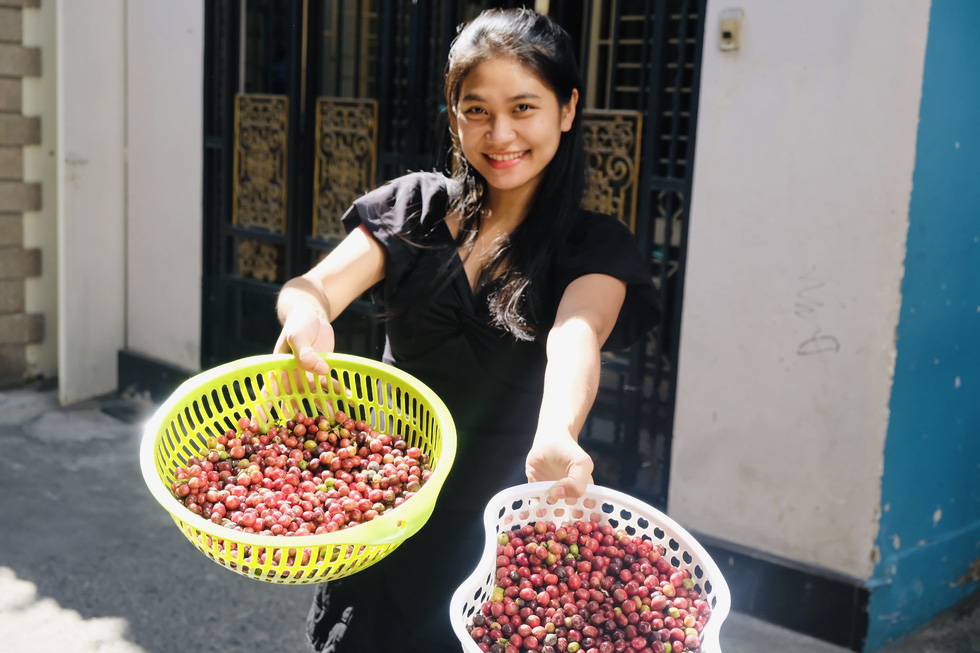 Độc đáo: Dân thành phố mua cành cà phê về chưng tết - Ảnh 4.