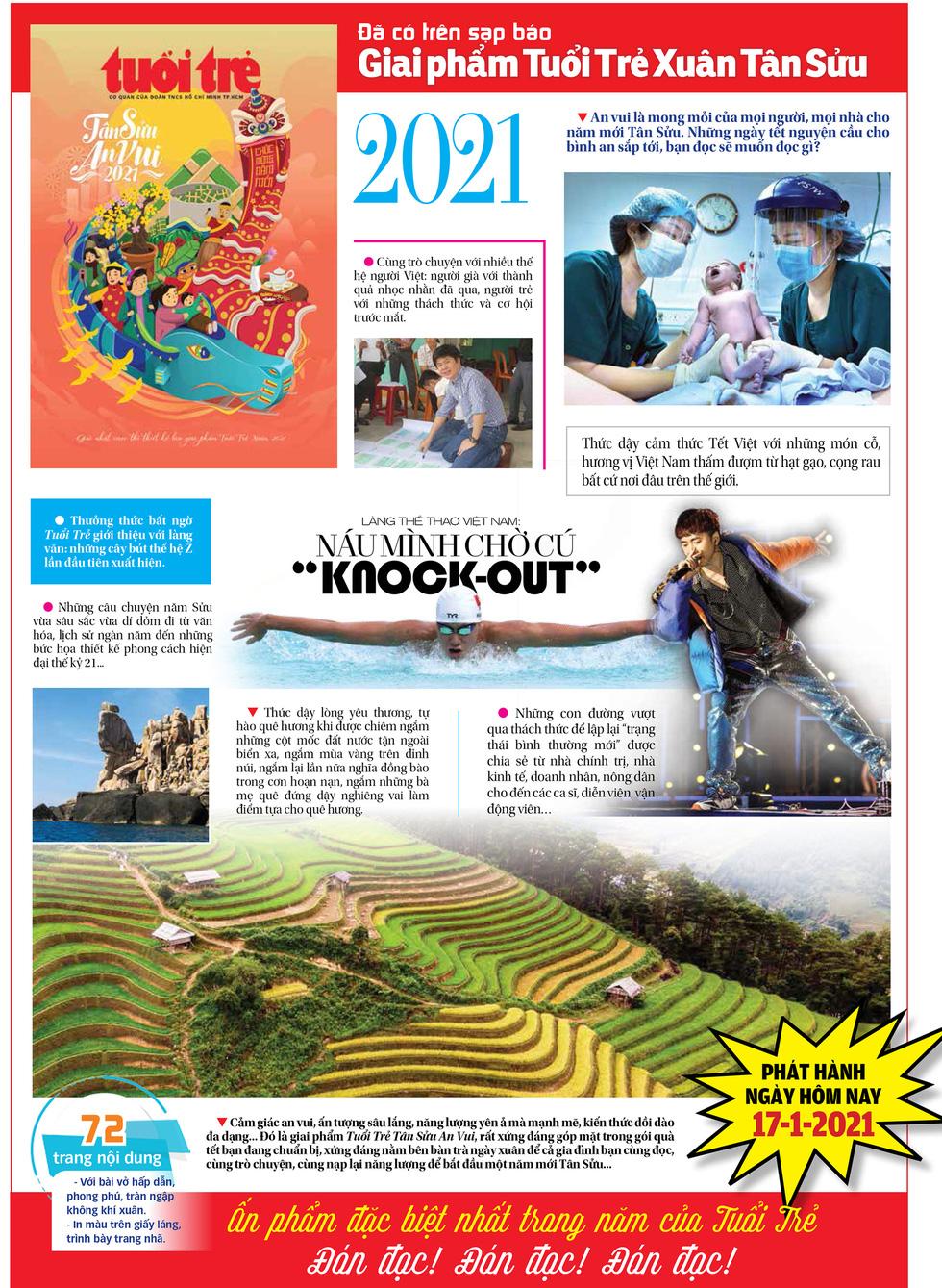 Đã có trên sạp báo Giai phẩm Tuổi Trẻ Xuân - Tân Sửu an vui - Ảnh 1.