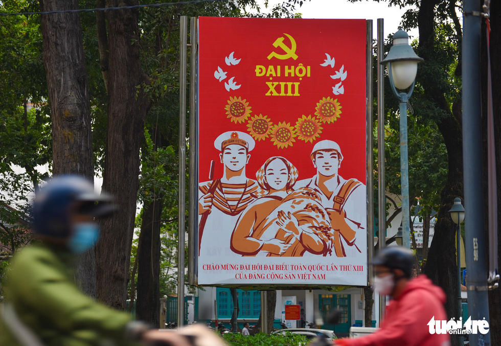 TP.HCM rợp cờ đỏ sao vàng chào mừng Đại hội lần thứ XIII của Đảng - Ảnh 4.