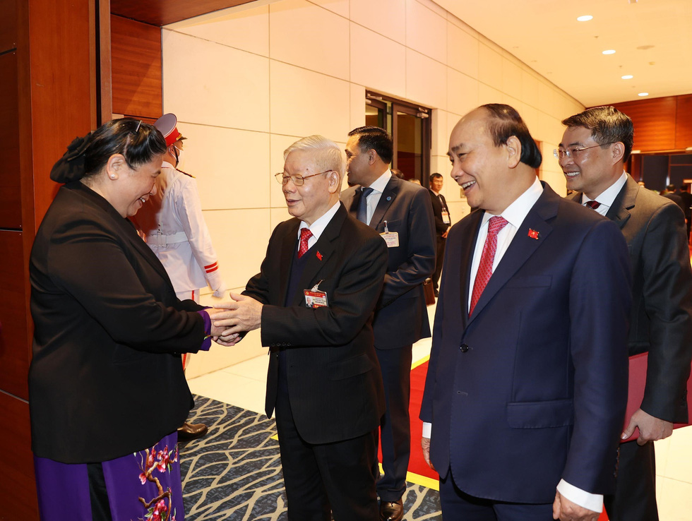 Chùm ảnh lãnh đạo Đảng, Nhà nước và các đại biểu tại phiên họp trù bị Đại hội Đảng XIII - Ảnh 7.