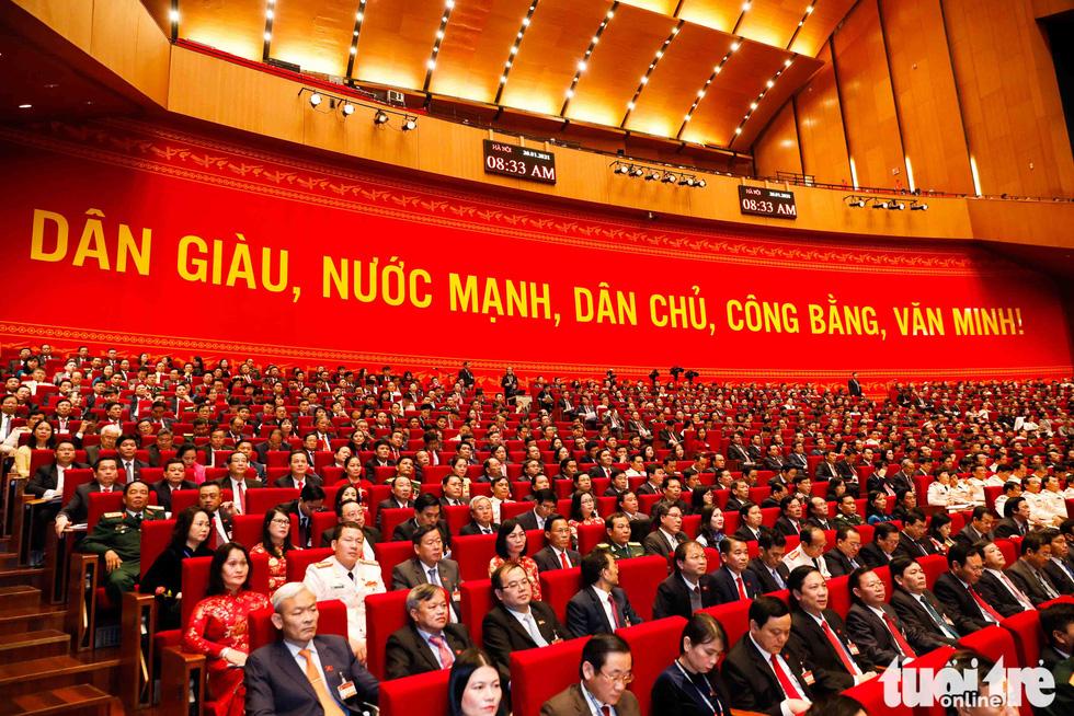 Chùm ảnh lãnh đạo Đảng, Nhà nước và các đại biểu tại phiên khai mạc Đại hội Đảng XIII - Ảnh 8.