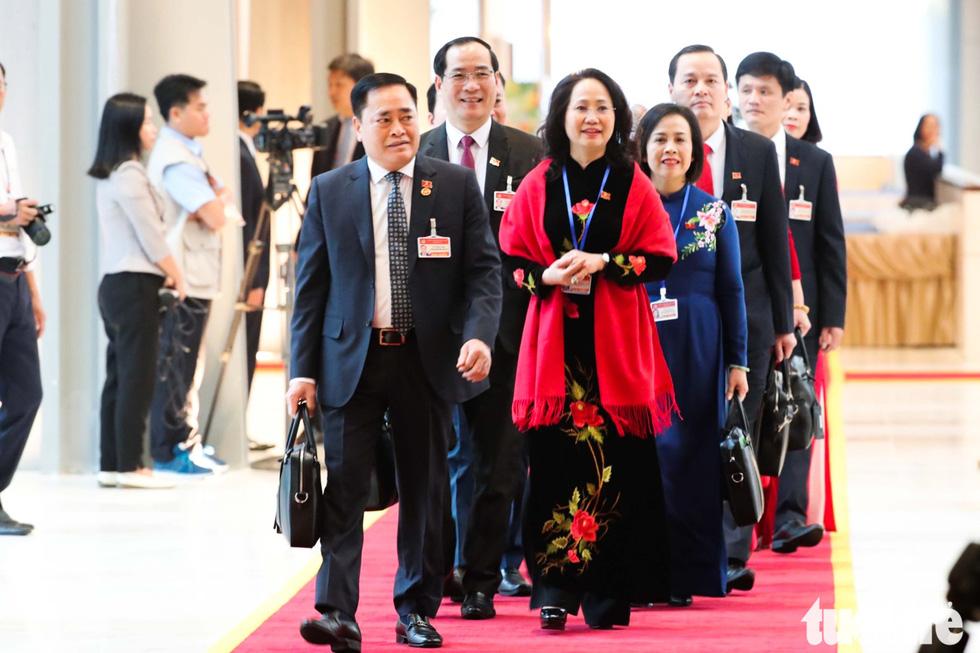 Chùm ảnh lãnh đạo Đảng, Nhà nước và các đại biểu tại phiên khai mạc Đại hội Đảng XIII - Ảnh 9.