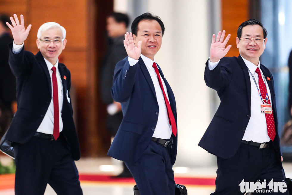 Chùm ảnh lãnh đạo Đảng, Nhà nước và các đại biểu tại phiên khai mạc Đại hội Đảng XIII - Ảnh 11.