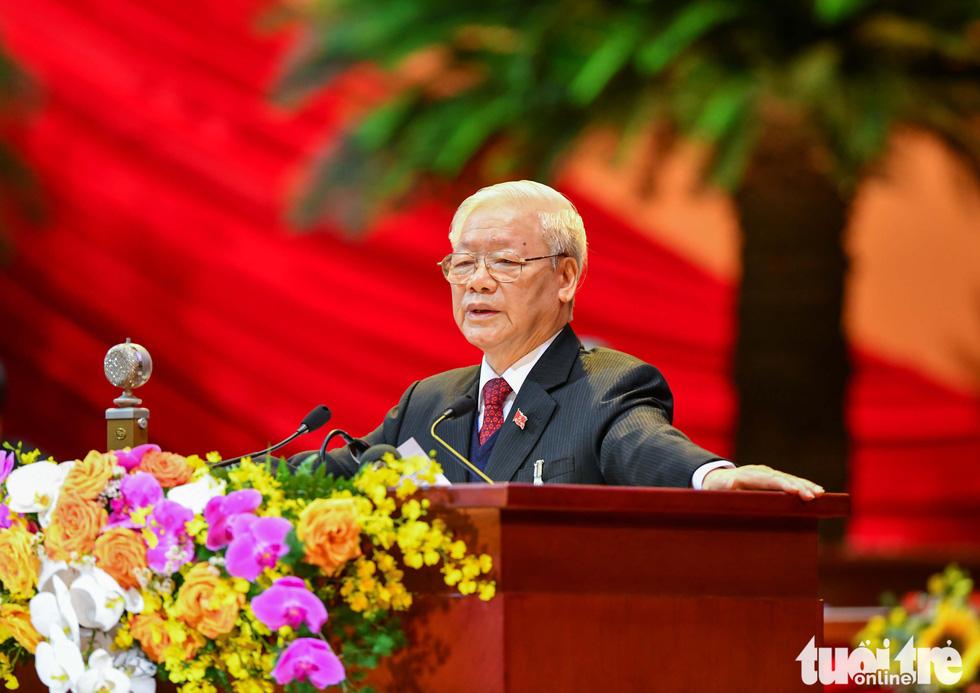 Chùm ảnh lãnh đạo Đảng, Nhà nước và các đại biểu tại phiên khai mạc Đại hội Đảng XIII - Ảnh 1.