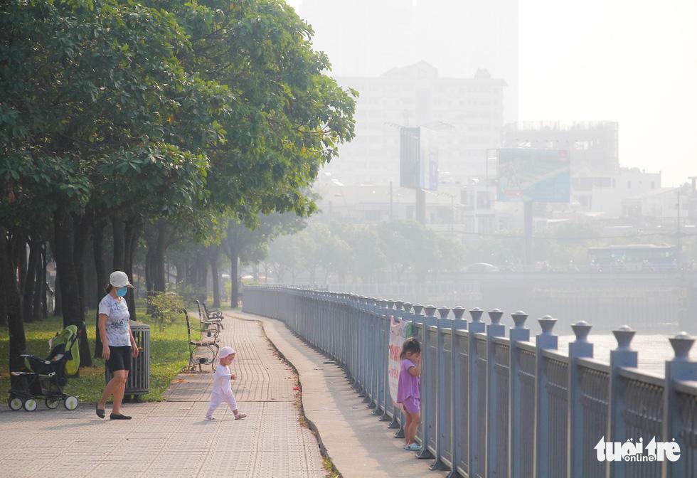 TP.HCM lại sương mù dày đặc - Ảnh 1.
