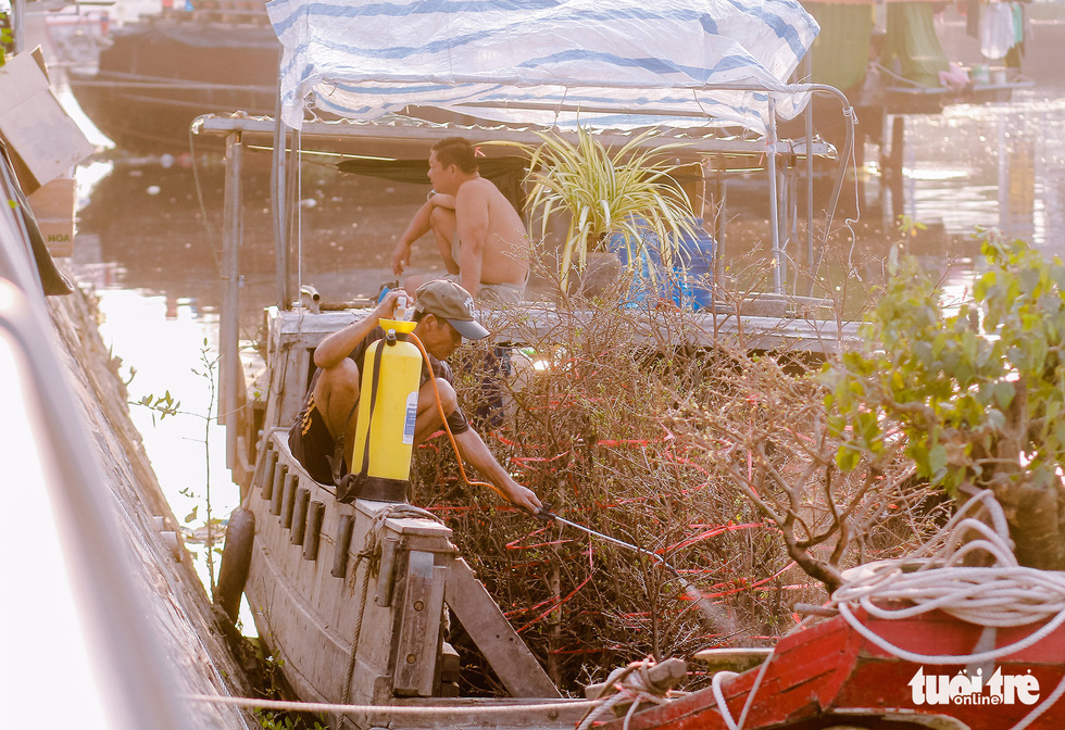 Thuyền hoa cập Bến Bình Đông chở tết đến Sài Gòn - Ảnh 7.