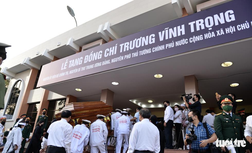 Lễ viếng nguyên Phó thủ tướng Trương Vĩnh Trọng tại Bến Tre và Hà Nội - Ảnh 10.