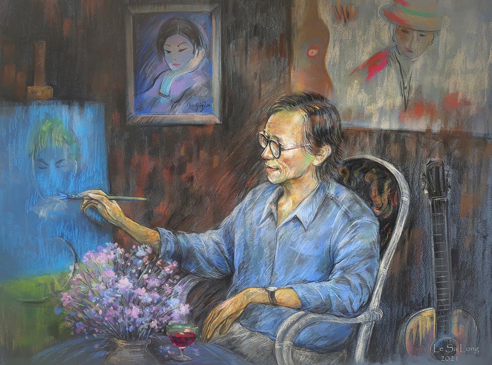 Dùng hội họa chuyển tải nhạc Trịnh - Ảnh 1.