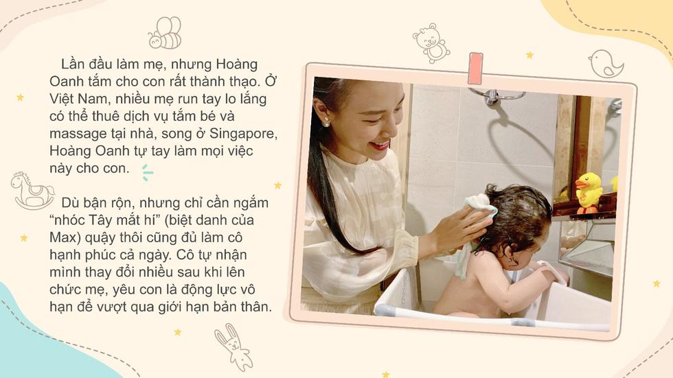 Á hậu Hoàng Oanh trải lòng về cảm xúc lần đầu làm mẹ - Ảnh 1.