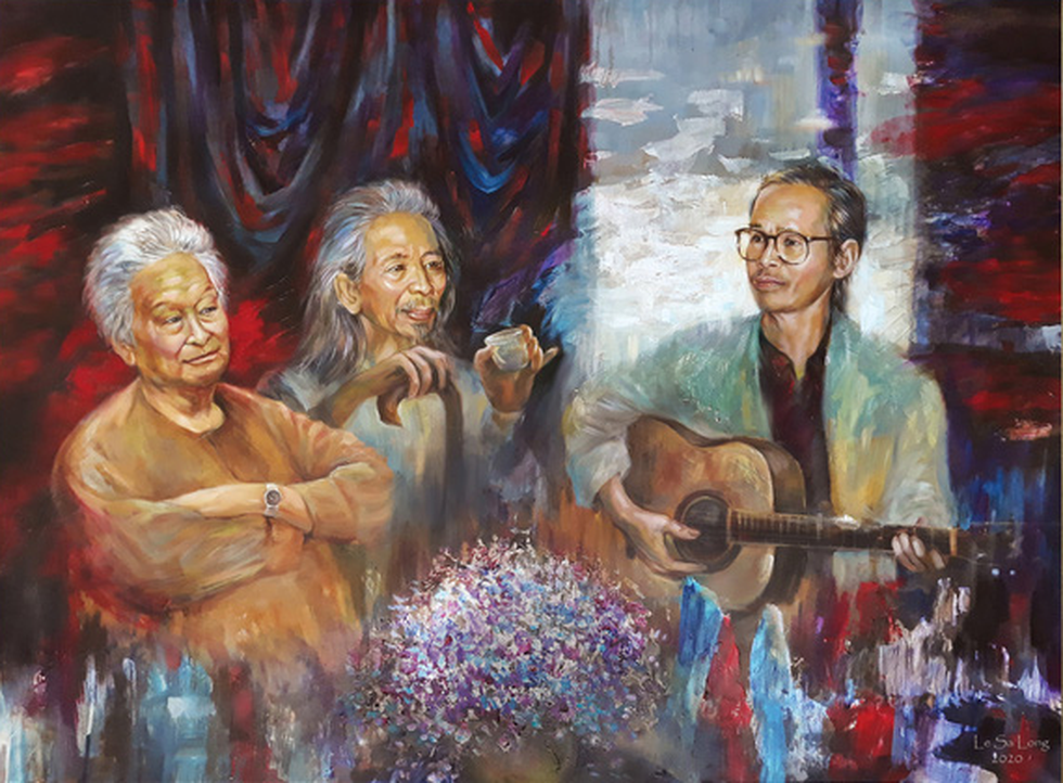 Dùng hội họa chuyển tải nhạc Trịnh - Ảnh 3.
