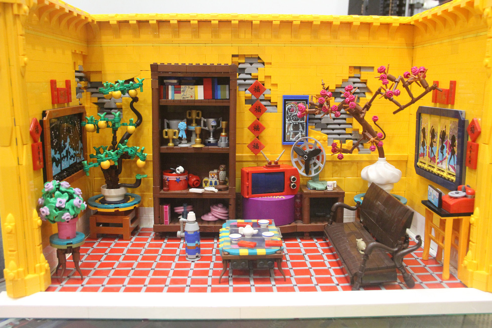Đình chùa, đường phố Việt Nam được tái hiện độc đáo bằng lego - Ảnh 4.