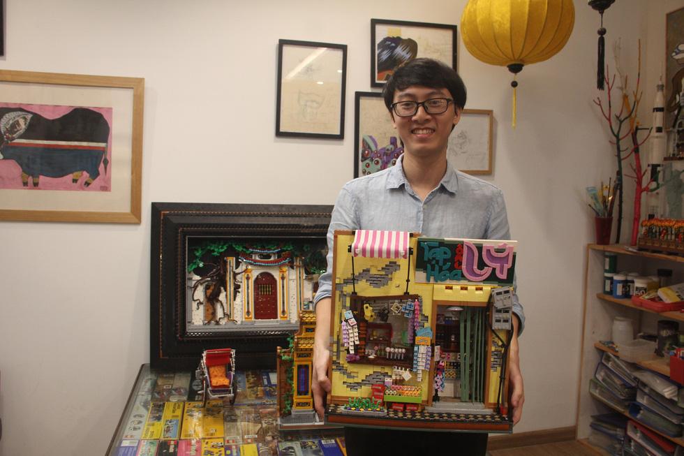 Đình chùa, đường phố Việt Nam được tái hiện độc đáo bằng lego - Ảnh 2.