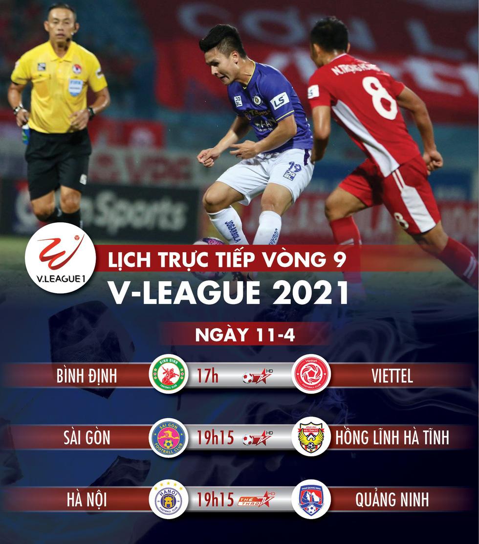 Lịch trực tiếp vòng 9 V-League: Quảng Ninh làm khách đến sân Hà Nội - Ảnh 1.
