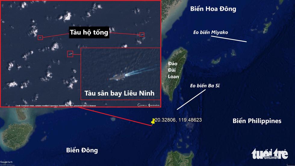 Tàu sân bay Trung Quốc bị tàu chiến Mỹ bám đuổi, chọc thủng đội hình? - Ảnh 2.