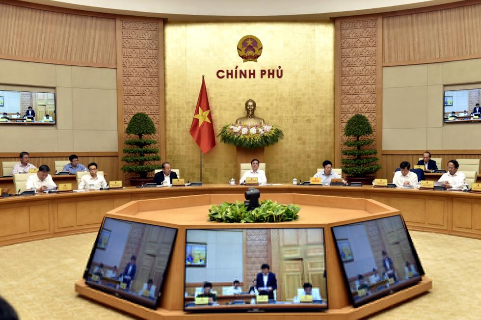 Chùm ảnh Thủ tướng Phạm Minh Chính chủ trì phiên họp Chính phủ - Ảnh 2.