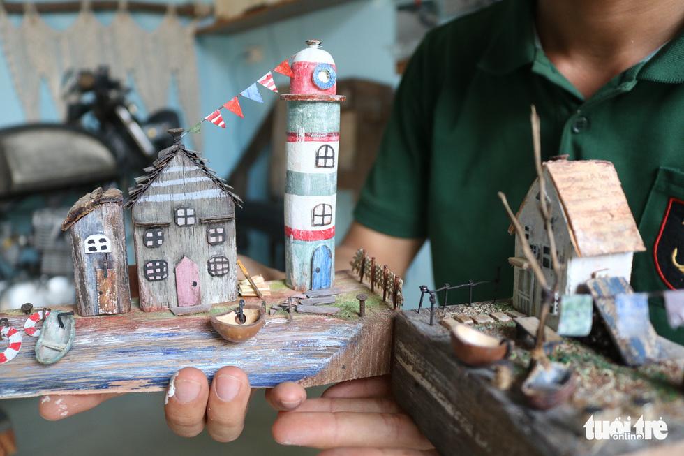 Chàng trai 9X nhặt gỗ vụn, kiếm tiền từ mô hình nhà mini siêu cưng - Ảnh 7.