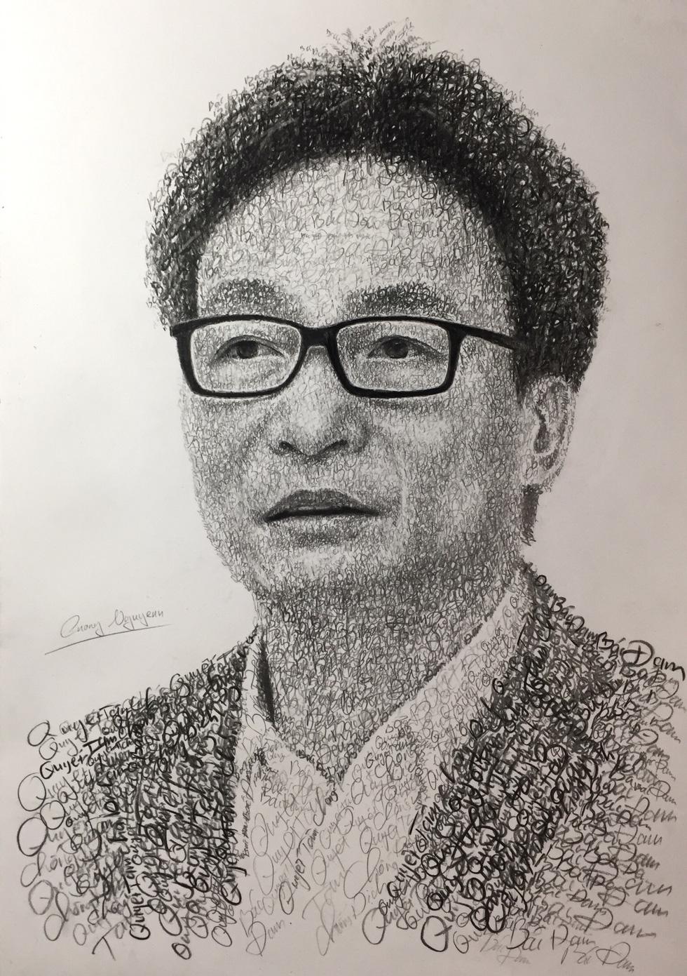 10X Bắc Ninh vẽ chân dung Bác Hồ bằng tên 63 tỉnh thành - Ảnh 4.