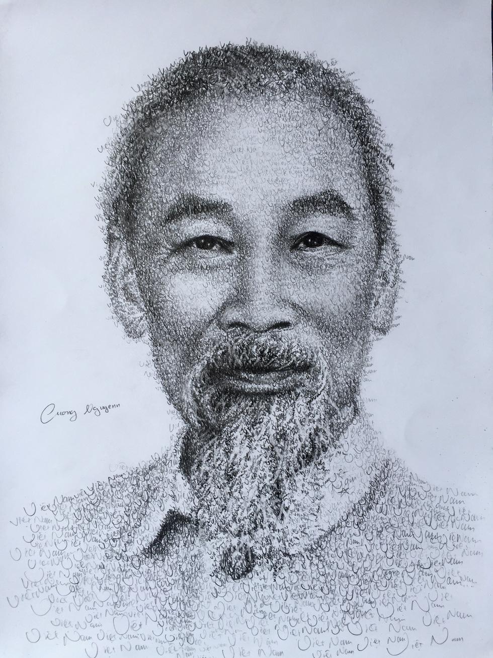 10X Bắc Ninh vẽ chân dung Bác Hồ bằng tên 63 tỉnh thành - Ảnh 2.