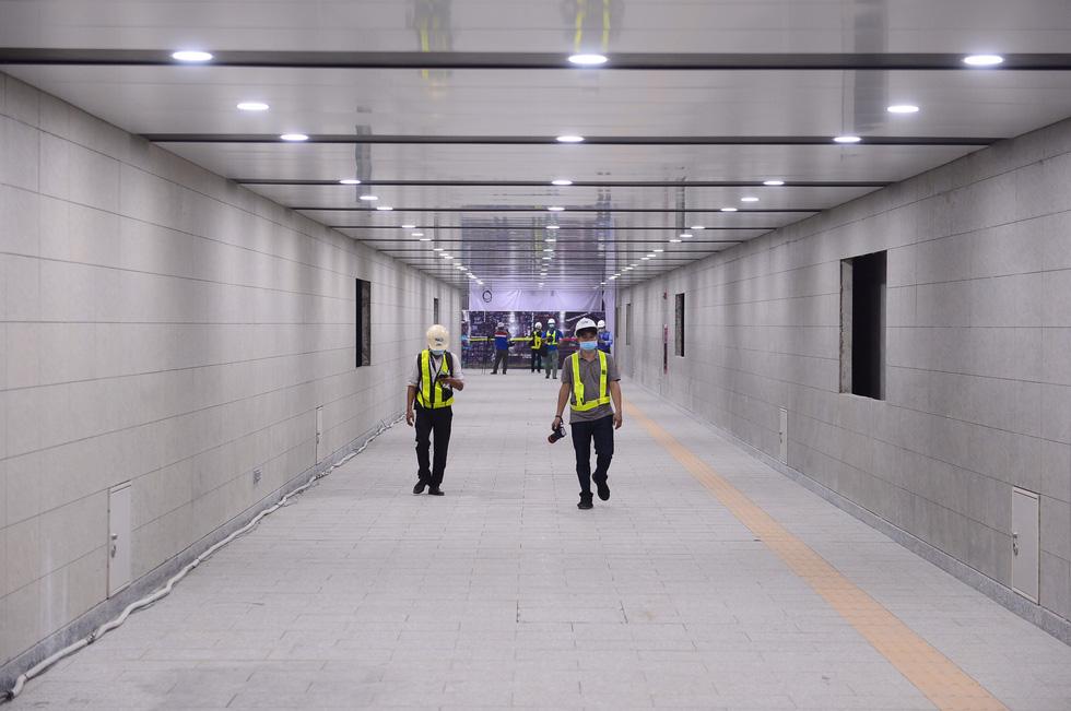 Ngắm diện mạo tầng B1 ga Ba Son của metro số 1 - Ảnh 2.