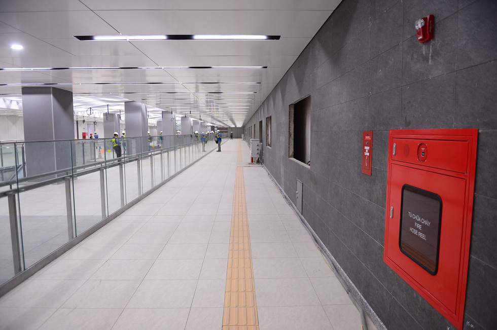 Ngắm diện mạo tầng B1 ga Ba Son của metro số 1 - Ảnh 1.
