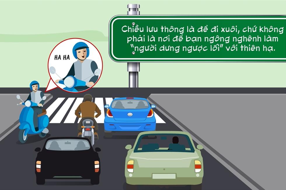 Điểm danh những hành vi kém văn minh giao thông người đi xe máy thường mắc phải - Ảnh 4.