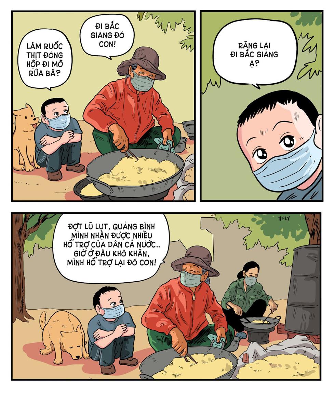 Mẹ đi chống dịch, đừng để đói bụng nhé vào tranh vẽ - Ảnh 4.