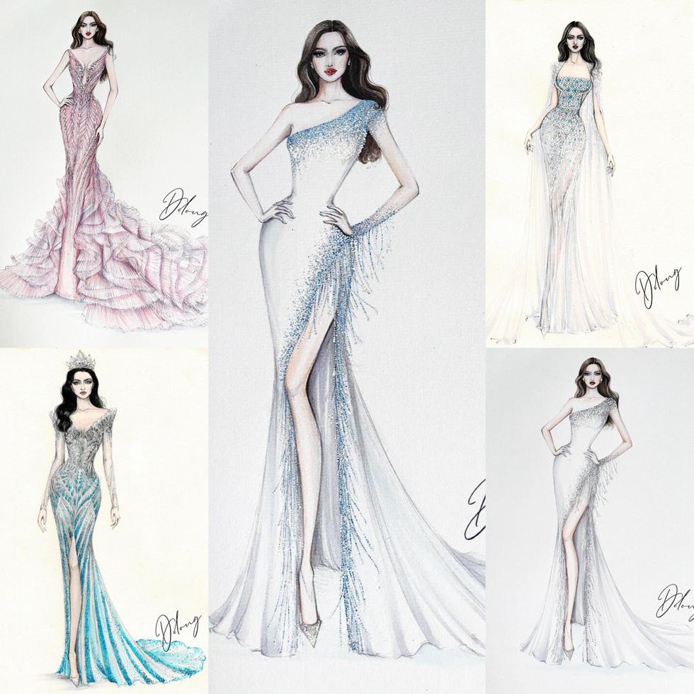Lộ diện mẫu thiết kế đầm dạ hội của Đỗ Thị Hà tại Miss World 2021 - Ảnh 2.