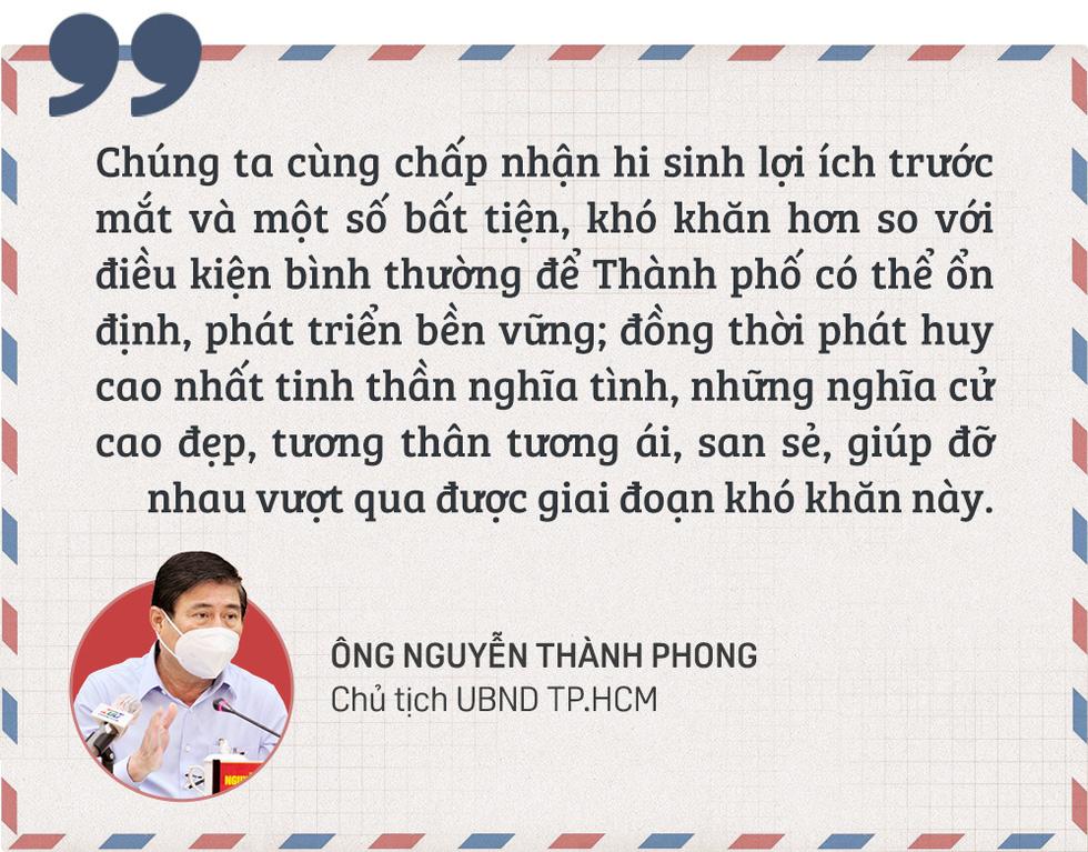 Chủ tịch Nguyễn Thành Phong gửi thư đến người dân TP.HCM: 8 giải pháp hiệu quả để chống dịch - Ảnh 2.