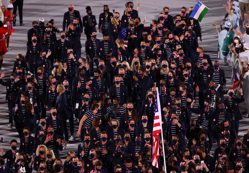 Đài lửa đã được thắp sáng, Olympic 2020 chính thức khai mạc - Ảnh 18.
