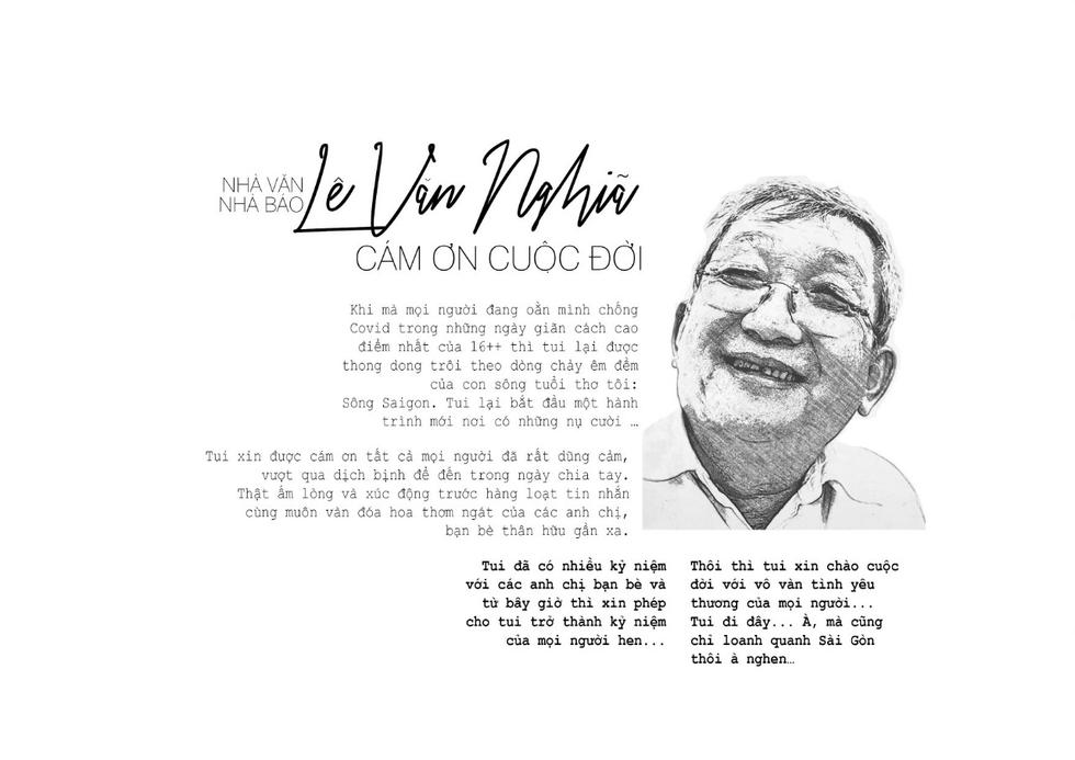 Bái vọng tiễn biệt nhà báo Lê Văn Nghĩa - Một người Sài Gòn rất Sài Gòn - Ảnh 3.