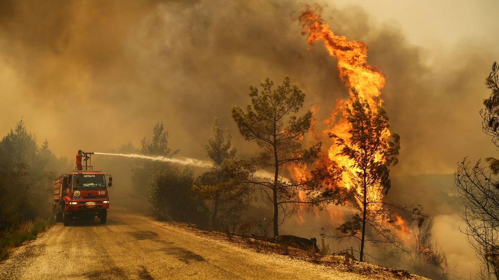Ảnh cháy rừng ngùn ngụt tàn phá miền nam Thổ Nhĩ Kỳ - Ảnh 2.