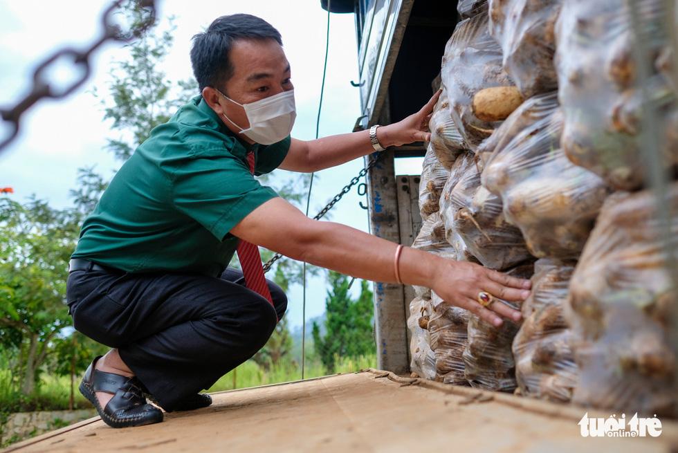 Đoàn xe nối đuôi đi xuyên đêm chở nông sản Đà Lạt tiếp tế cho bà con Đà Nẵng - Ảnh 10.