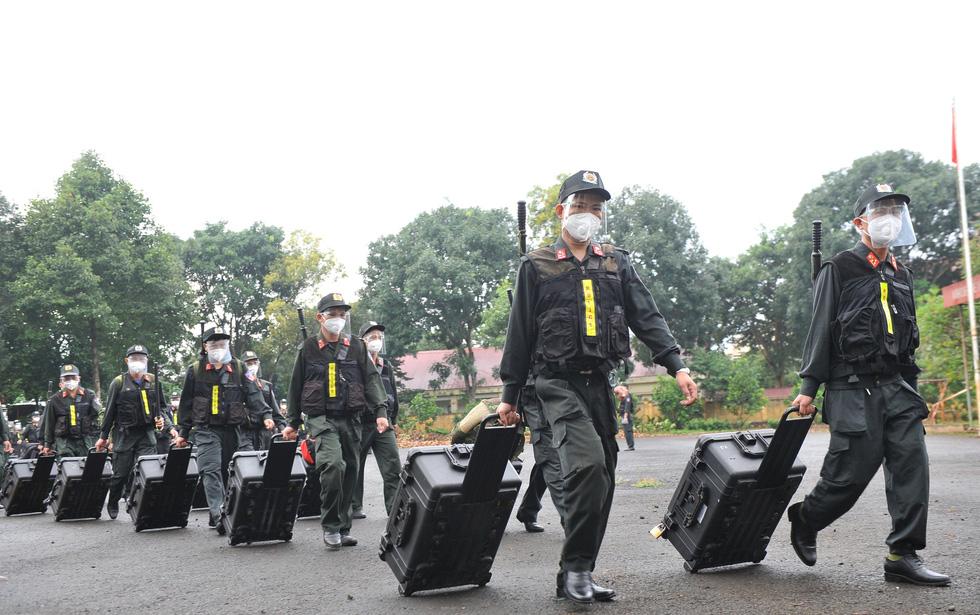 Trung đoàn Cảnh sát cơ động Tây Nguyên chi viện cho Bà Rịa - Vũng Tàu chống dịch - Ảnh 3.