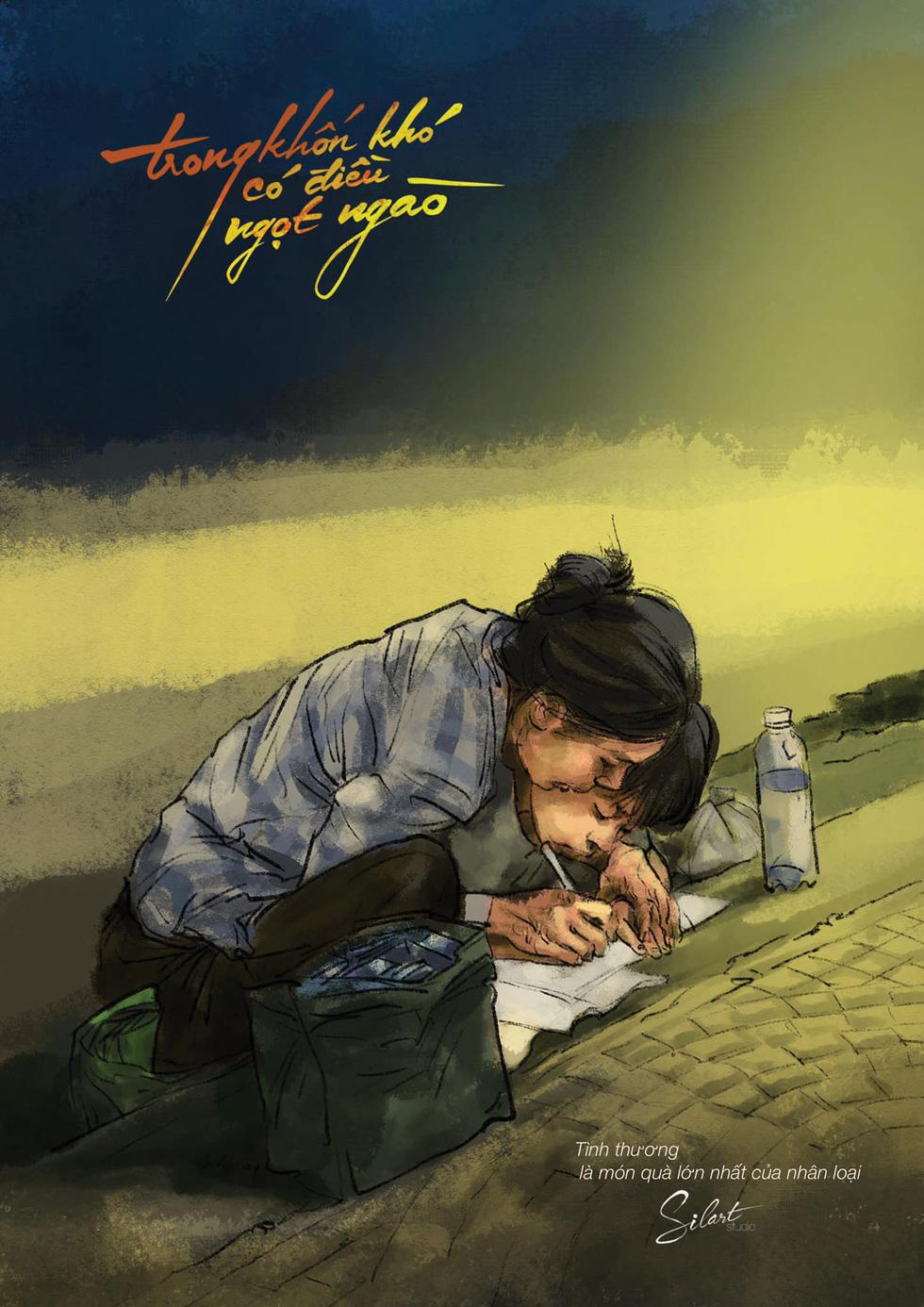 Trong gian khó có điều ngọt ngào: Những bức tranh như liều thuốc trị thương - Ảnh 6.