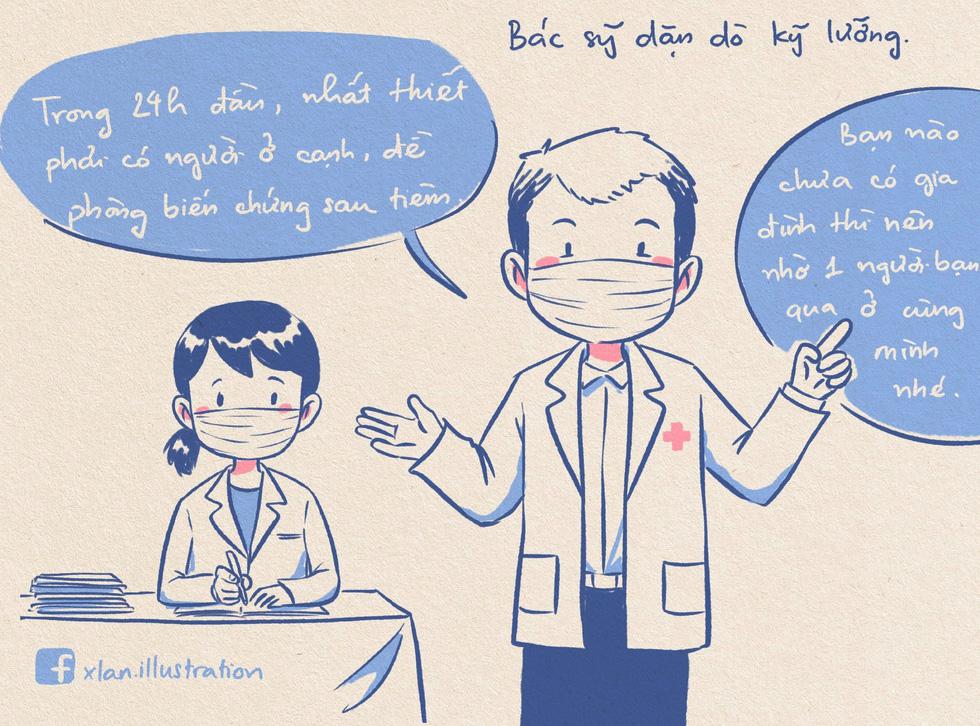 Nhật ký đi tiêm vắc xin của tác giả bộ tranh 'em bé cách ly' lại gây sốt - Ảnh 12.