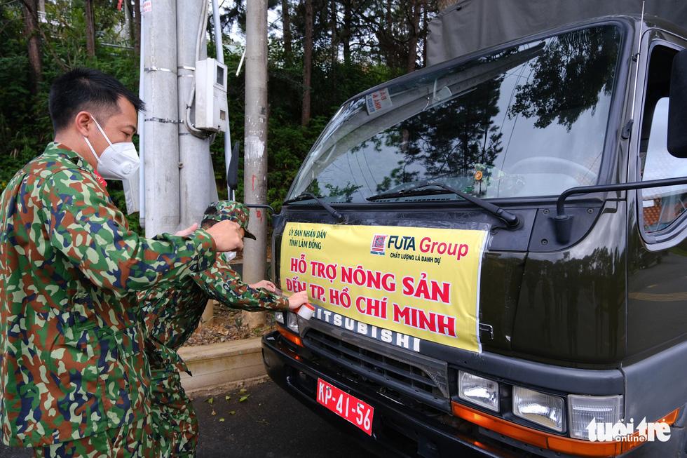 Lâm Đồng hào phóng, tặng rau nguyên vườn, chở rau bằng xe giường nằm máy lạnh đến TP.HCM - Ảnh 6.