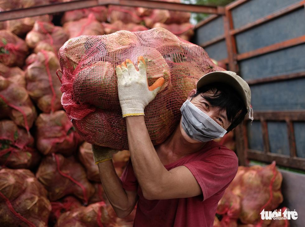 Hình ảnh đoàn xe VIP của Lâm Đồng hoàn thành chở 6.000 tấn nông sản tặng miền Nam - Ảnh 5.
