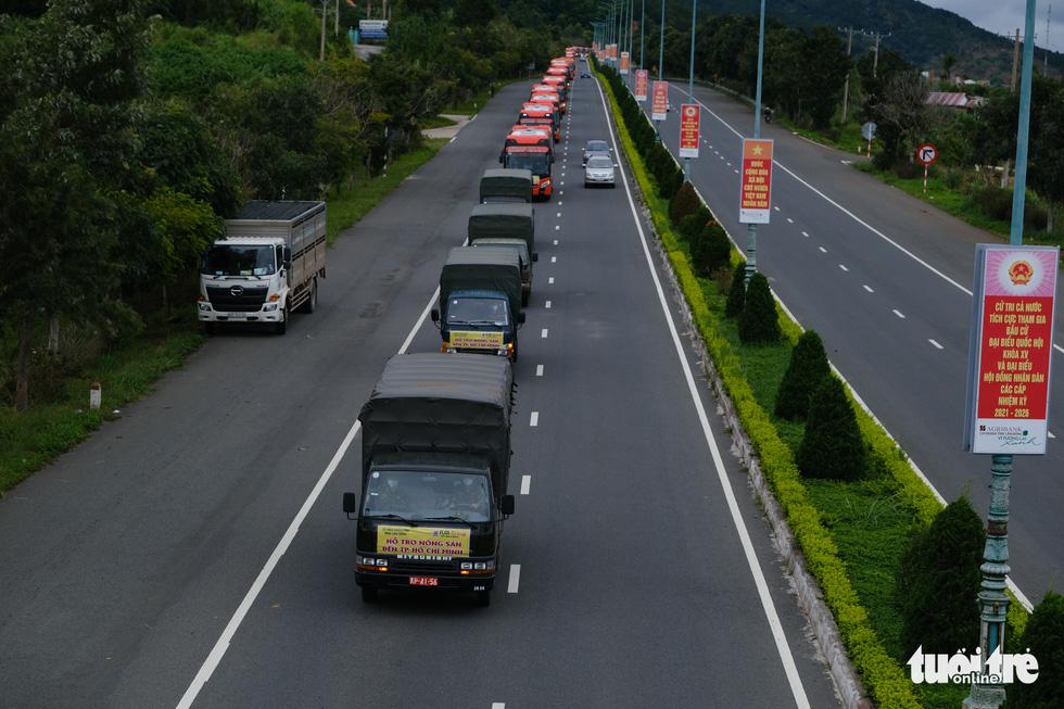 Hình ảnh đoàn xe VIP của Lâm Đồng hoàn thành chở 6.000 tấn nông sản tặng miền Nam - Ảnh 13.