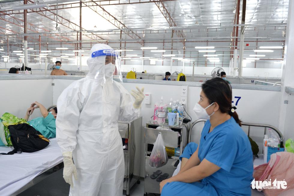 Bệnh viện dã chiến thuộc Bộ Công an nâng tầng điều trị - Ảnh 7.