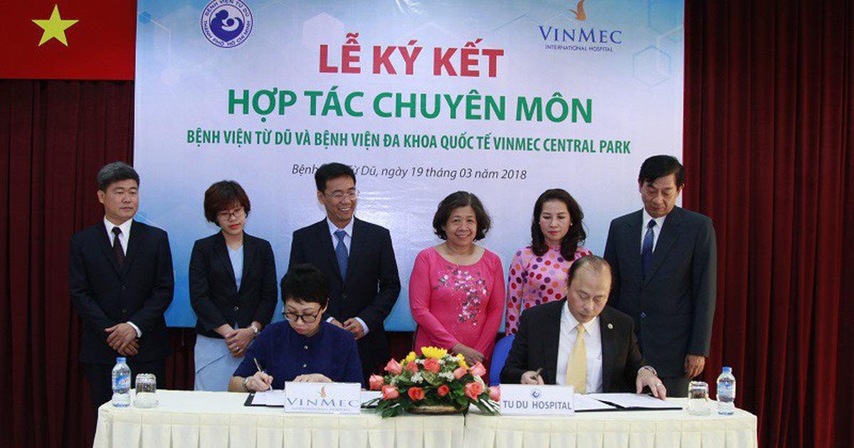 Bệnh viện Từ Dũ và Vinmec Central Park ký kết hợp tác