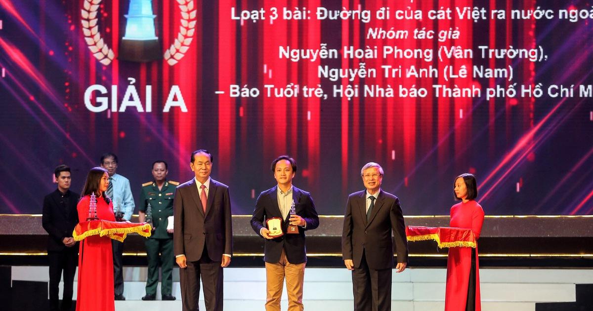 """""""Đường đi của cát Việt"""" của Tuổi Trẻ nhận Giải A Báo chí Quốc gia"""