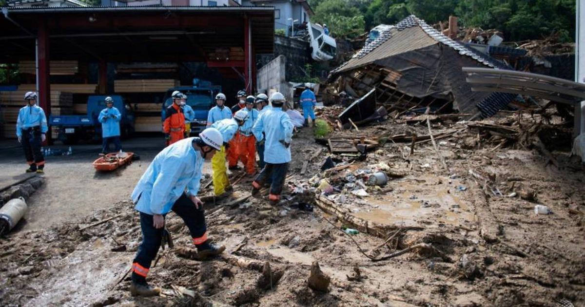 Số người chết vì mưa và sạt lở tại Nhật tăng lên 141 người