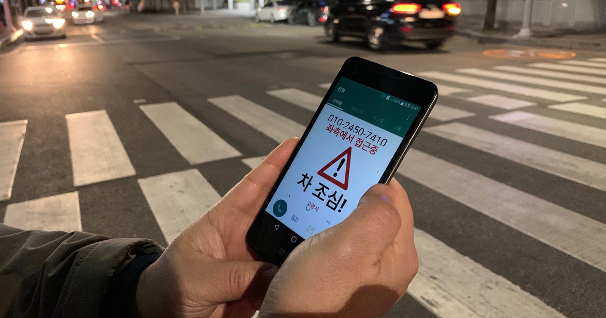 Sáng kiến mới ngăn ''xác sống smartphone'' bị xe tông ở Hàn Quốc