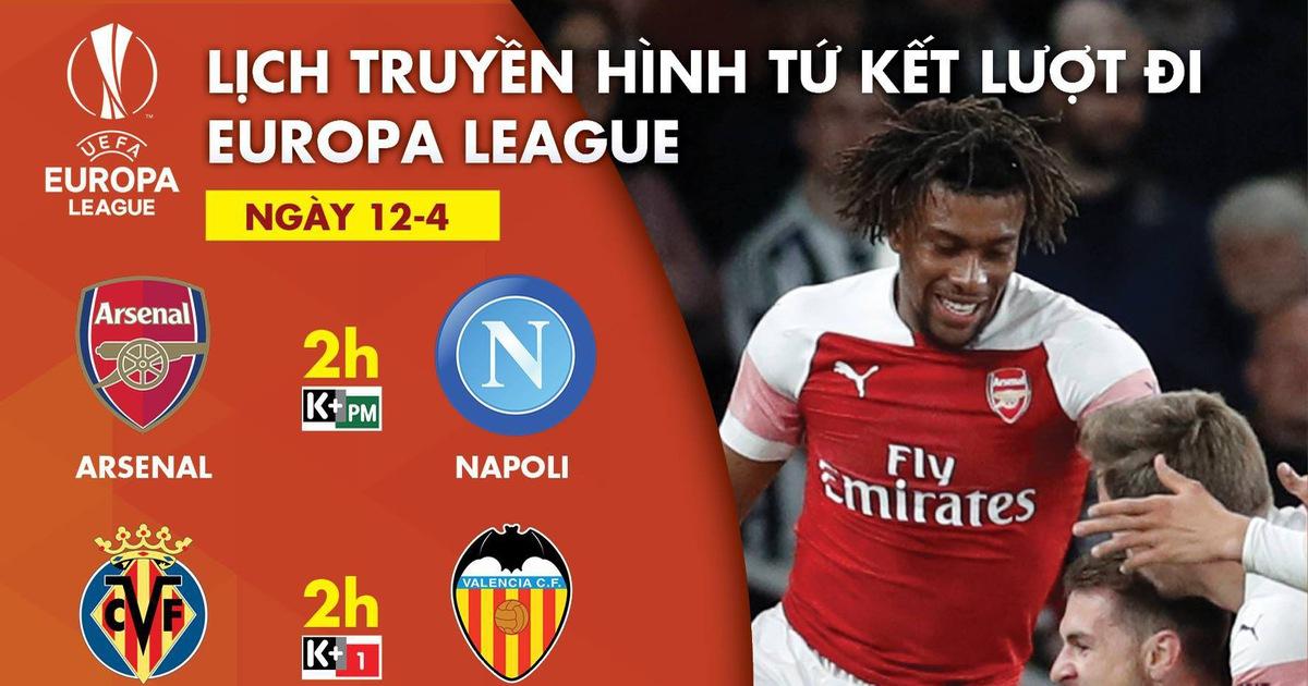 Kênh nào trực tiếp Arsenal gặp Napoli, Slavia Praha đụng Chelsea?