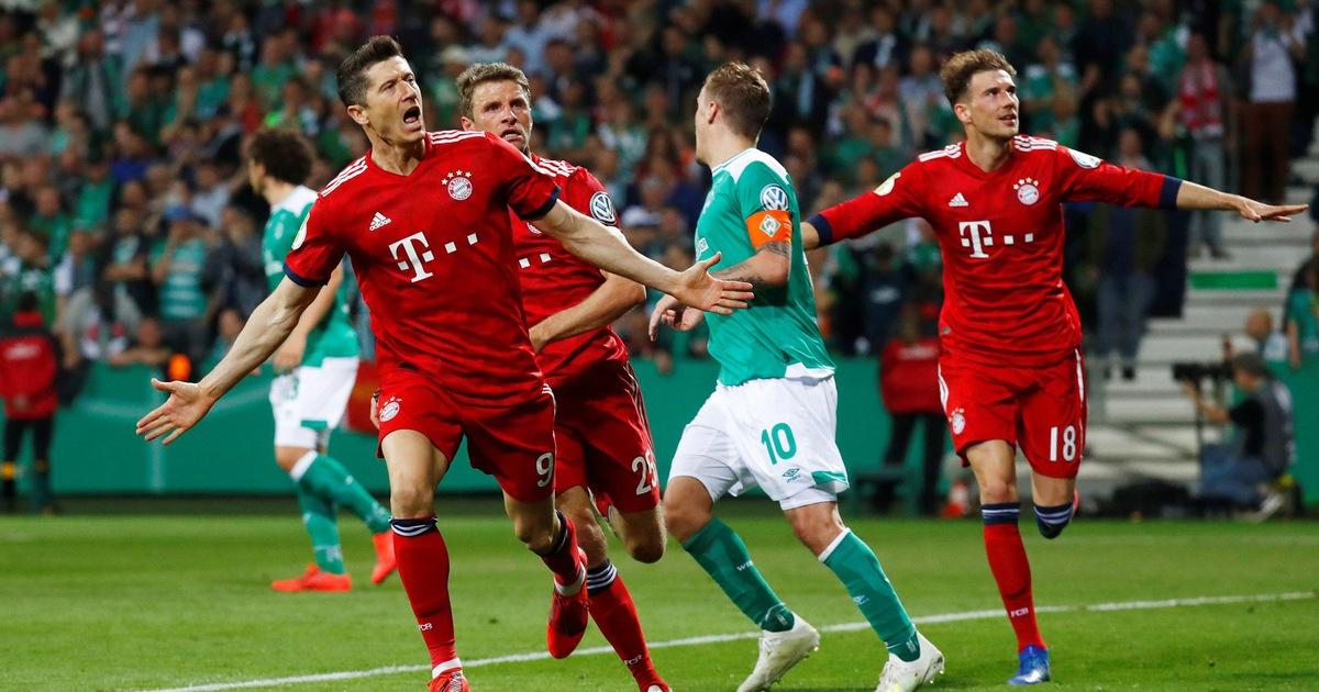 Lewandowski lập cú đúp, Bayern vào chung kết cúp quốc gia Đức