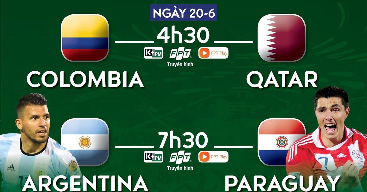 Lịch trực tiếp Argentina - Paraguay: Chờ Messi vượt khó