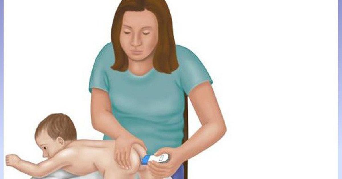 Những vị trí đo thân nhiệt xác định trẻ bị sốt
