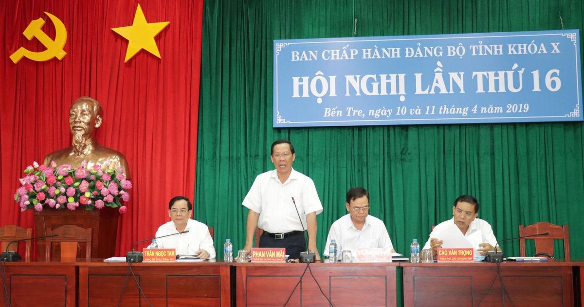 Bầu chức danh bí thư Tỉnh ủy Bến Tre đối với ông Phan Văn Mãi