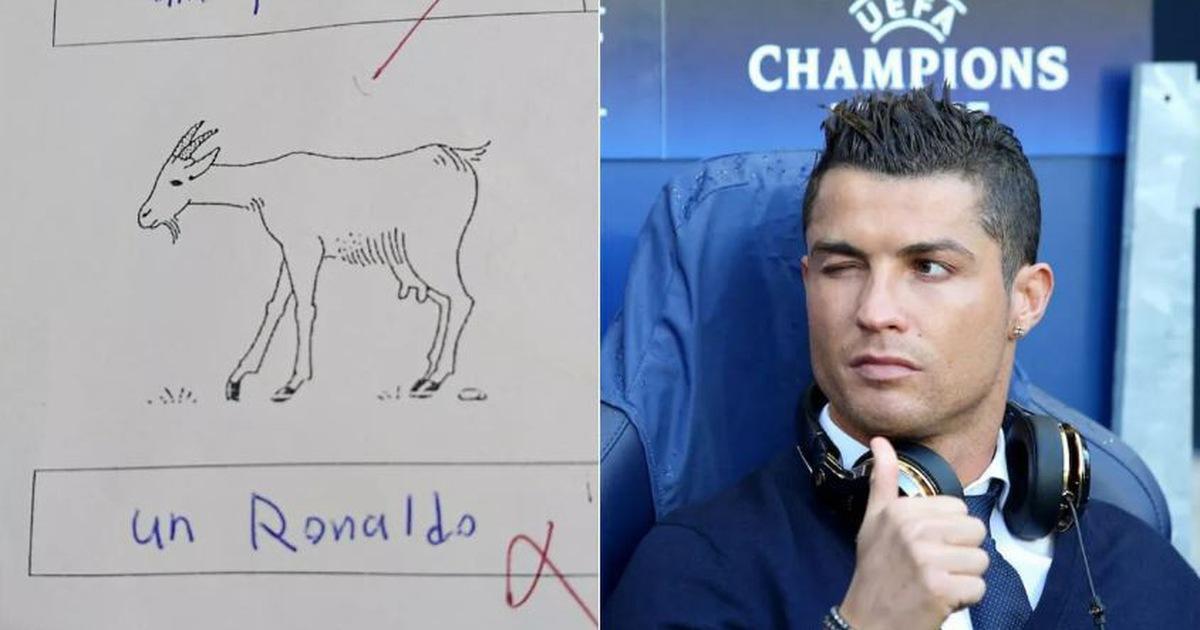 Thi rớt vì chú thích ảnh con dê là...Cristiano Ronaldo